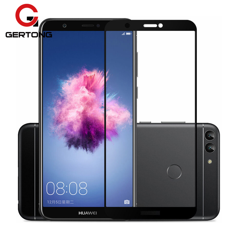GerTong Full Cover Tempered Glass for Huawei <font><b>P</b></font> <font><b>Smart</b></font> Plus Screen Protector Toughened Glass FIG-LX1 <font><b>5.65inch</b></font> Protective Film 9H image