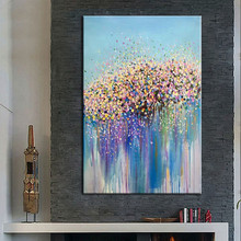 Large Knife Hand Painted Wall Painting, Abstract Colorful Oil Painting on Canvas Art