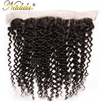 Nadula Hair 130% Density Brazilian Curly Hair Lace Frontal Remy Hair 13x4 Ear to Ear Free Part Closure Natural Color - DISCOUNT ITEM  30% OFF All Category