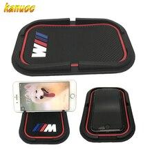 ///M Logo 3D Car Phone Non-Slip Mat Support Holder Mounts GPS Sat For BMW X5 E90 E60 F30 F10 F15 E63 E64 E65 E86 E89 E85 E91 E92