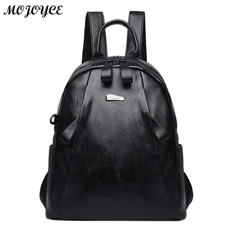 Women Luxury Backpack Solid High Quality PU Leather Backpack Women Designer Travel Backpack School Bags For Teenagers Girls