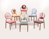 European Style Retro Dining Chairs Modern Simple Nail Makeup Cafe Hotel Dining Chair Adult Backrest Dining