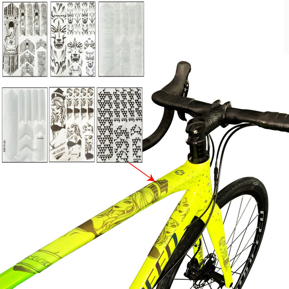 Cycling Decals MTB Bike Frame Sticker Bicycle Rack Anti Scratch Protective Film