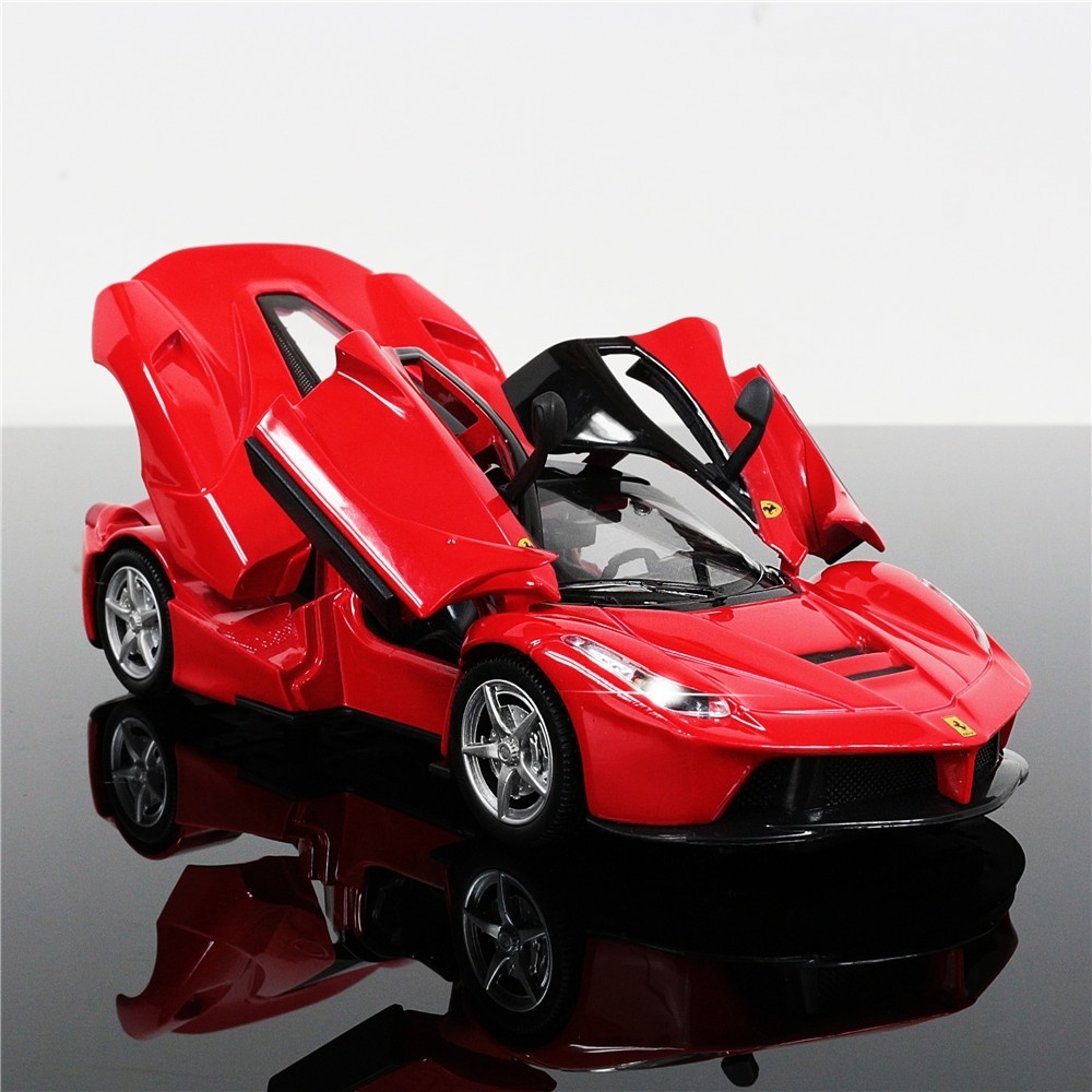 1:32 LaFerrari Supercar Alloy Diecast Car Model Car Collections Pull Back Toy Classical Electronic Car  Birthday Gift For Kids