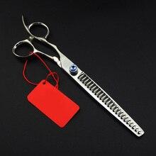 Японские 8,0 дюймов профессиональные Левые ножницы hanHair инструменты для волос Ножницы Парикмахерские филировочные расческа-ножницы