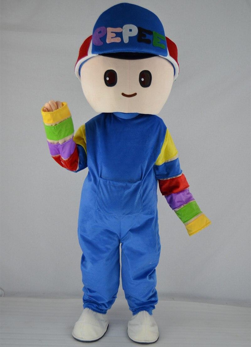 PEPEE Oyunlari мальчик девушка талисман костюм День рождения Хэллоуин Необычные Косплэй производительность рекламный костюм для взрослых Размер