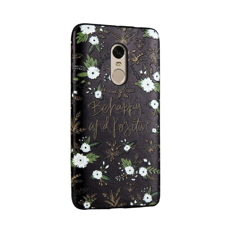 Hongmeng для Xiaomi <font><b>Redmi</b></font> note4 5.5 &#8220;Дело Мягкие TPU крышка Высокое качество 3D Рельеф Живопись цветок ромашка Lucky Cat мобильного телефон сумка