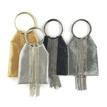 Модные Каркасные сумки на ремешке с кристаллами и кисточками, вечерние сумки для женщин, вечерние сумочки с пайетками, сумки на плечо