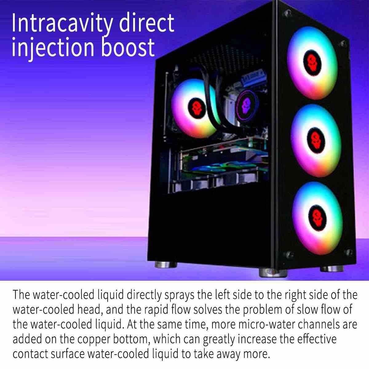 Nước Hệ Thống Làm Mát bằng Chất Lỏng RGB Nước Làm Mát Tản Nhiệt CPU 120mm Quạt Làm Lạnh Nước Tản Nhiệt Nước Làm Lạnh Tản Nhiệt cho CPU Intel /AMD