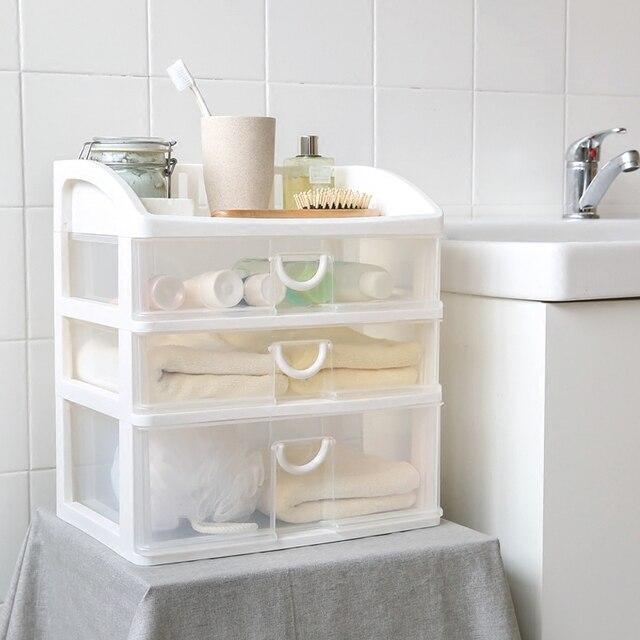 Mensola da bagno creativo cassetto di plastica scatola di trucco ...