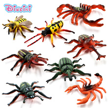 8pcs/Lot Simulation Scorpion insect animal model Lifelike action Play figure home decor Gift For Boy girl Kids hot toys set