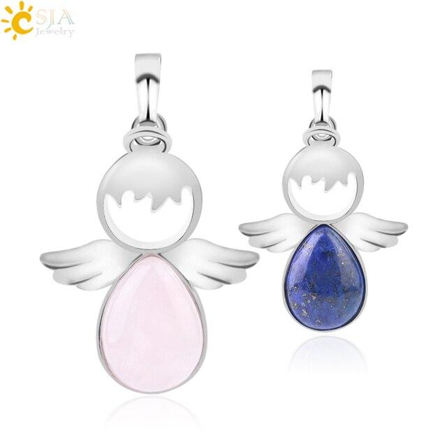 Подвески с ангельскими крыльями csja подвески камнями розового
