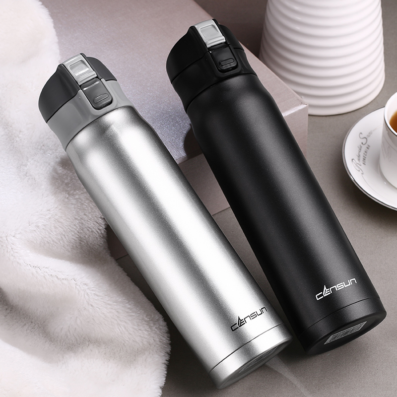 480ML Stainless Steel Thermos Bottle Vacuum Flask Cup Water Bottle Mug For Tea Insulated Auto Car Thermo Cups Vacuum Flask