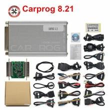 2018 CARPROG V8.21 full set Professional Auto repair scan tool 21 Adapters car prog Full function airbag reset function
