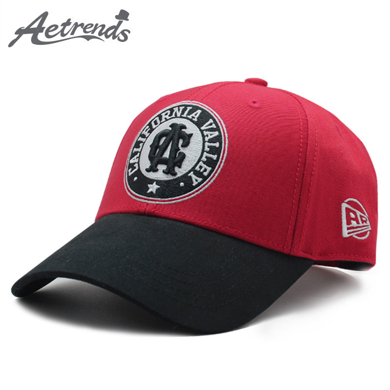 [AETRENDS] Bones cap usa cotton red letter embroidered women's hat hats gorras mujer sports hip hop baseball cap Z-6517
