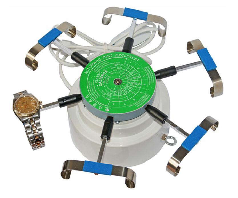 Prix pour 240 V Automic Essais Cyclotest Montre Testeur Montre Test Machine-montre enrouleurs pour six montres à un moment