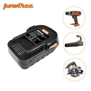 Перезаряжаемая литий-ионная батарея Powtree, 4000 мАч, 18 в, для RIDGID R840083 R840085 R840086 R840087 серии AEG серии L30
