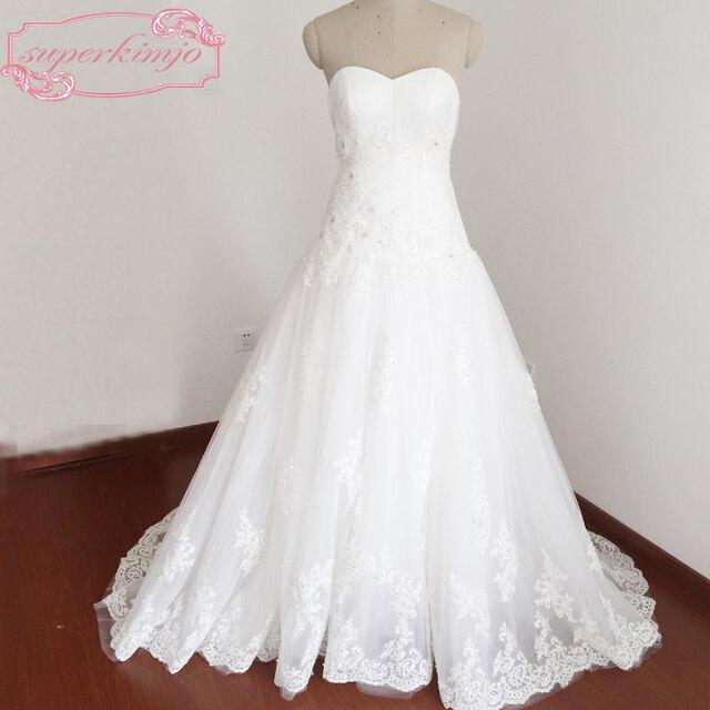 Brautkleider Kleider Bodenlangen Schatz ausschnitt Falten Perlen ...