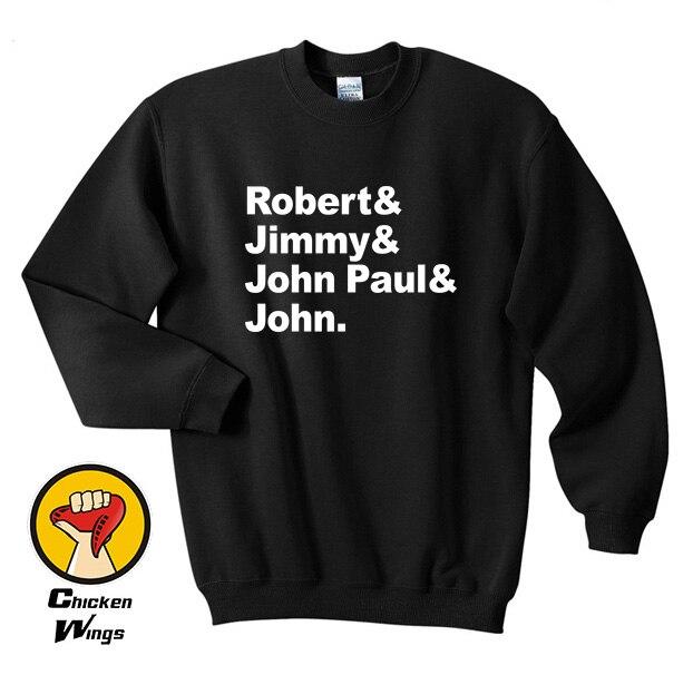The Names Zeppelin Led Robert Jimmy John Paul & Top Crewneck Sweatshirt Unisex More Colors XS - 2XL