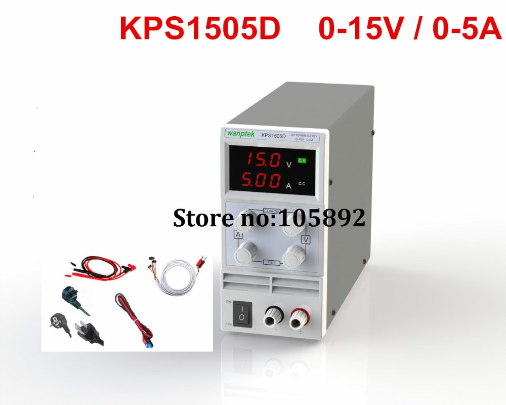KPS-1505D Phone repair LED Display Adjustable DC Power Supply 110V-220V 0.1V/0.01A EU Plug+Probe/Repair power line cps 6011 60v 11a digital adjustable dc power supply laboratory power supply cps6011