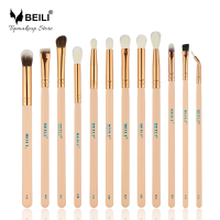 BEILI 2017 New Style 12 Pcs Rose Golden Complete Eye Makeup Brush Set Professional Eye Shadow