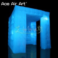 Eye attractive designed inflatable led photo booth canopy,photo backdrop props with 2 doors for wedding