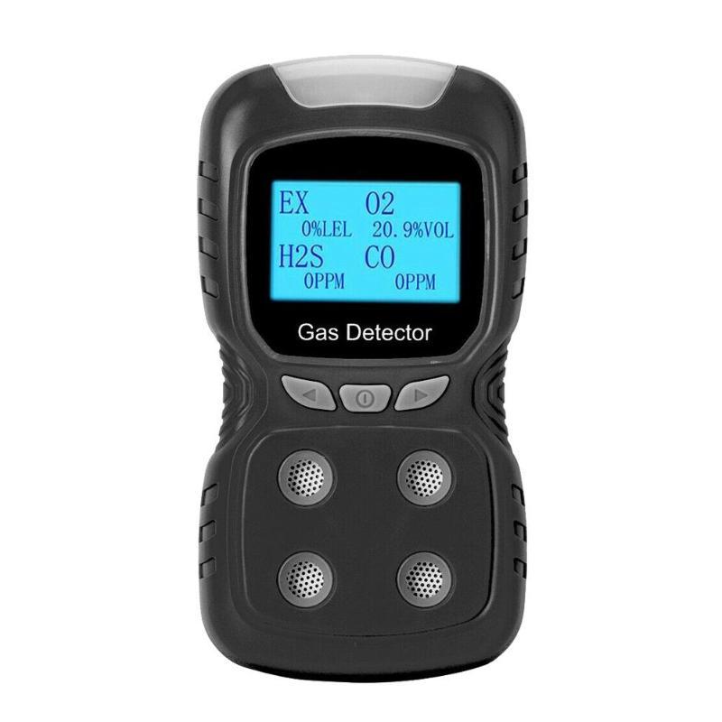 LCD Gas Detector EX/O2/H2S/CO Carbon Monoxide Analyzer Detector (Black)LCD Gas Detector EX/O2/H2S/CO Carbon Monoxide Analyzer Detector (Black)