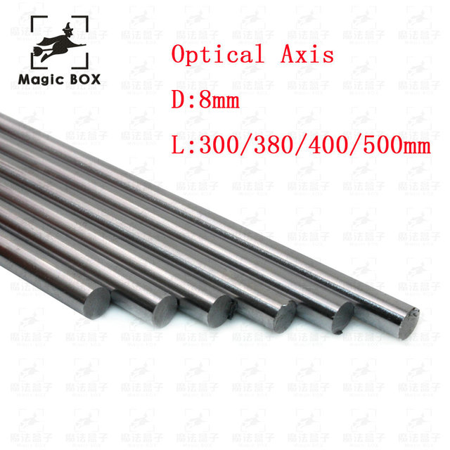 Optical Axis 300 380 400 500 mm Smooth Rods 8mm Linear Shaft Rail 3D Printers Parts Chrome Plated Guide Slide Part