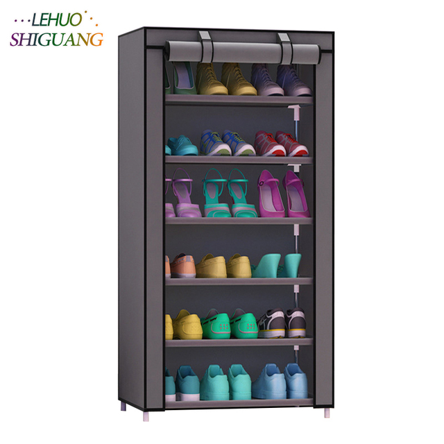 Shoe Cabinet 7 Layer 6 Grid Non Woven Fabrics Large Shoe Rack Organizer