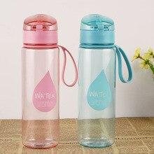 Baispo бутылки для воды 500 мл портативная Спортивная бутылка на веревочке непосредственно напиток Герметичная Бутылка Автоматическая пряжка BPA бесплатно