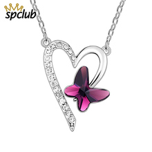 Buy swarovski crystal heart pendant necklace and get free shipping on  AliExpress.com 0d4db9b04eec