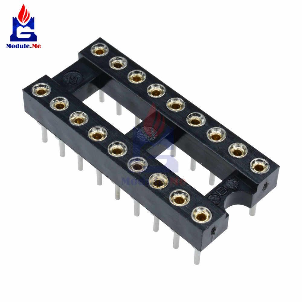5 ชิ้น 18 - pin DIP SIP รอบ IC ซ็อกเก็ตอะแดปเตอร์ - Bonded Gold ชุบเครื่อง