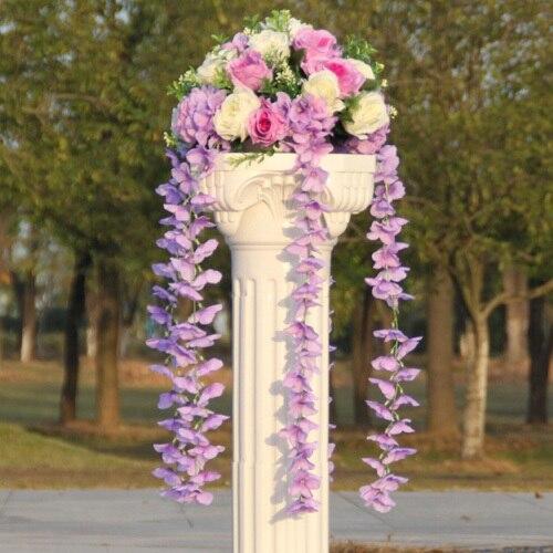 Свадебные композиция Диаметр Цветок свадебное оформление букета цветок для дорожного свинец римская колонна 4 шт./лот - Цвет: 4