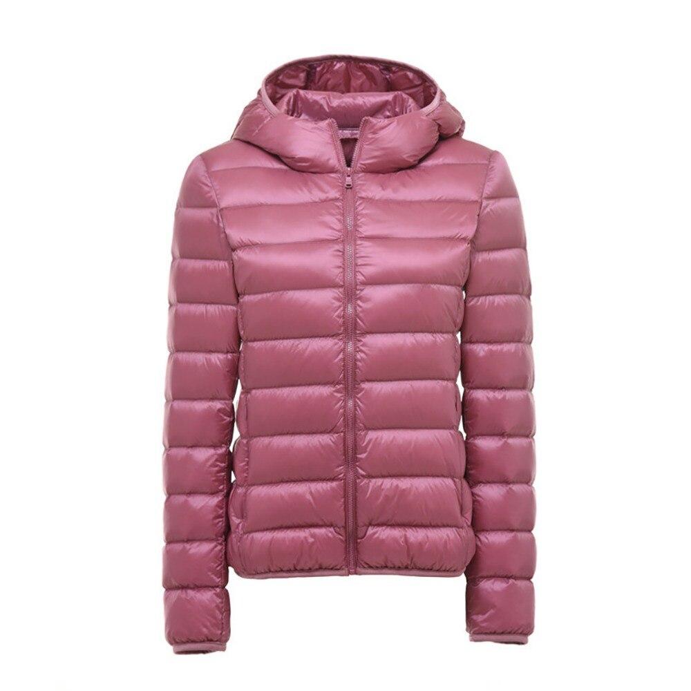 2018 New Women Ultra Light Down Jackets Hooded 90% White Duck Down Jackets Coats Womens Parka Zipper slim Warm Coat Plus Size