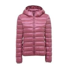 2018 New Women Ultra Light Down Jackets Hooded 90% White Duck Down Jackets Coats Womens Parka Zipper slim Warm Coat Plus Size стоимость