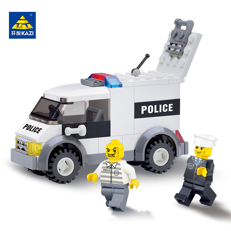KAZI Toys For Children Building Blocks Police Prisoner brinquedos Toys Building Bricks Kids Educational Christmas Toys lepin 631pcs city police station kazi 6725 building blocks action figure baby toys children building bricks brinquedos kid gift