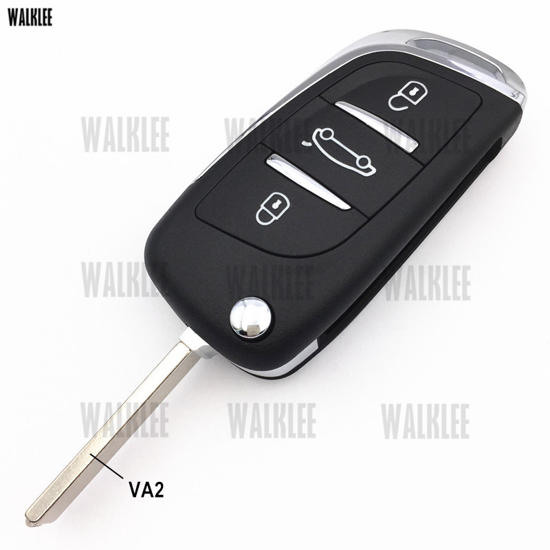 Image 5 - WALKLEE Upgrade Remote Key Keyless Entry Transmitter Suit for Peugeot 208 2008 301 308 508 434MHz with ID46 (7941) ChipCar Key   -