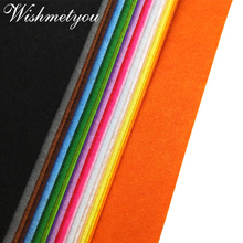 WISHMETYOU 1pc 45CM 1mm Non-Woven Felt Home Decor Bundle Fabric Polyester Handmade Needlework Sewing Bag Craft Make 60Color