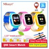 Free Shipping Q90 GPS Phone Positioning Fashion Children Watch 1 22 Inch Color Touch Screen WIFI