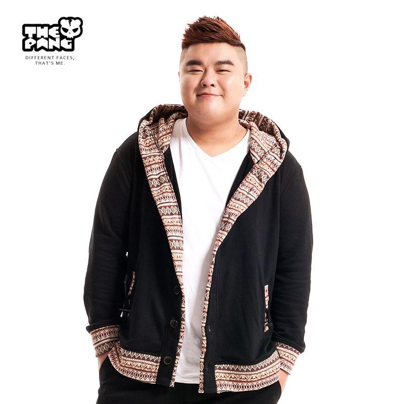 Large Size font b Hoodies b font Male Coat Fashion New Leisure Loose Sweatershirt Cardigan Jacket