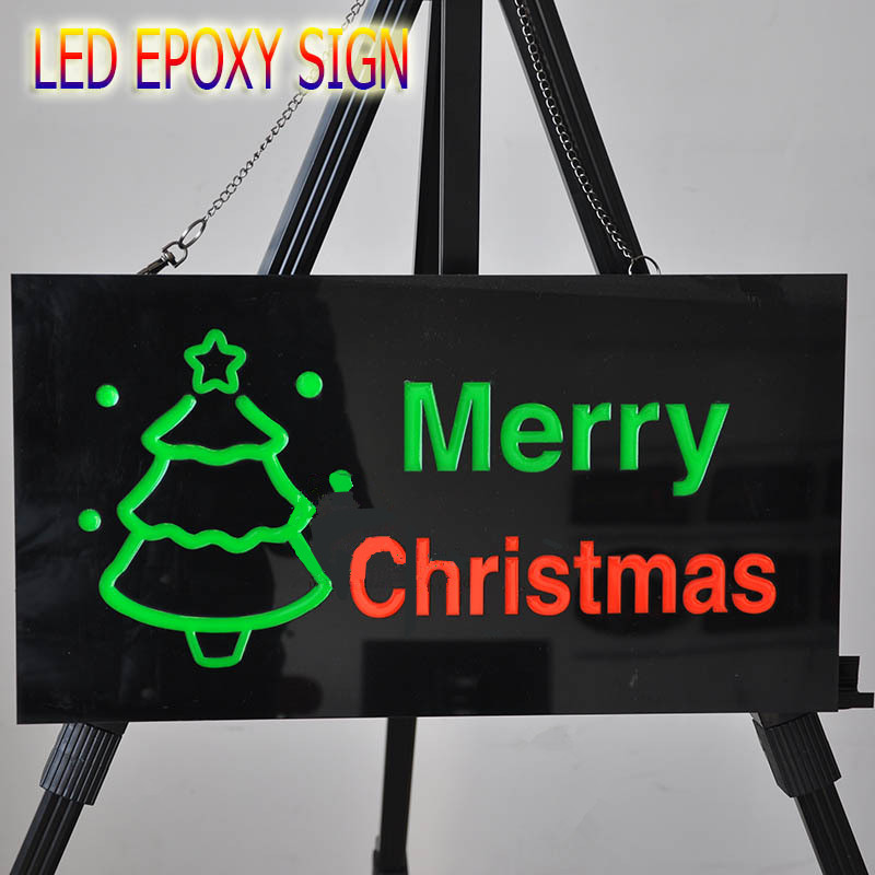 Shop Open Sign Lights: NEW Merry Christmas LED Shop Open Signs Business LED OPEN