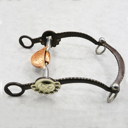 125 мм Ретро Западная лошадь биты Медь Нержавеющая сталь Конный мундштук Snaffle для верховой езды гонки галтеры бит H