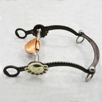 125mm Retro Western Horse Bits Copper Stainless Steel Equestrian Mouthpiece Snaffle For Horse Riding Racing Halters