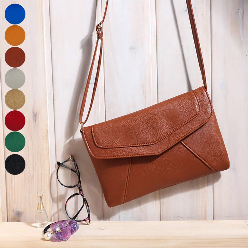 HOBBAGGO Fashion Women Mini Shoulder Messenger Bag PU Leather Satchel Handbag Crossbody Bags New