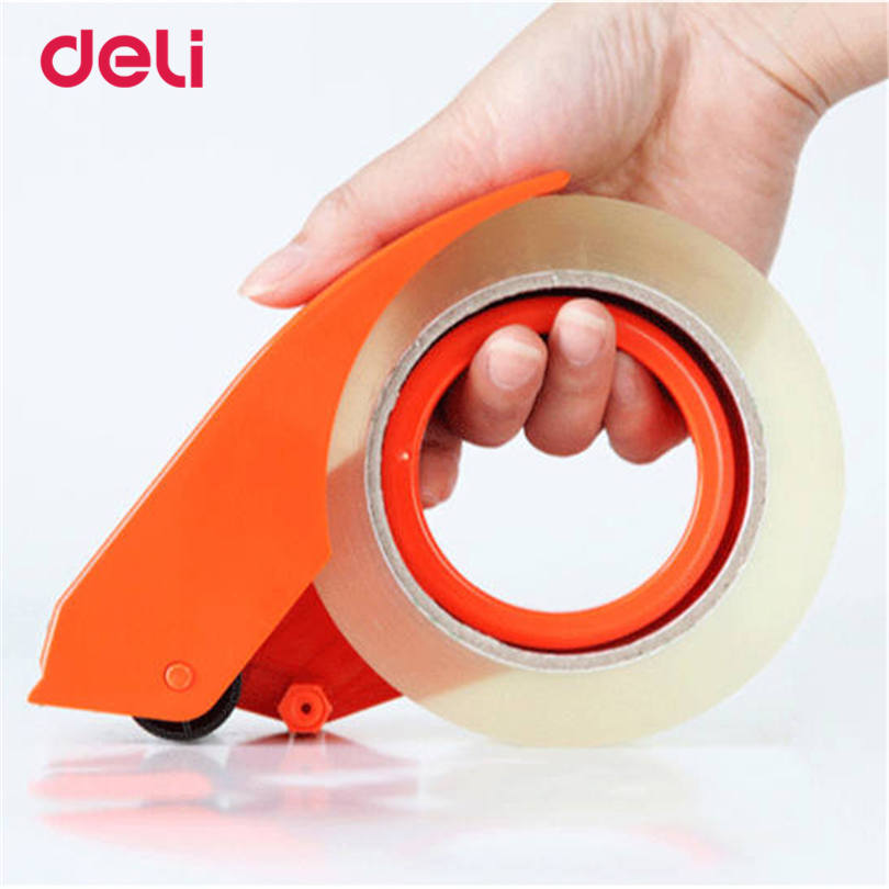 Deli profession Practical Plastic Adhesive Tape cutter tape Dispenser Office Desktop carton supplies tape width less than 48 mm leader kids комбинезон утепл на подкладке первая зима бел гол р 74