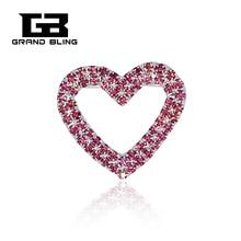 цена на MARY KAY Theme Pink Heart Brooch Pins Rhinestone Jewelry