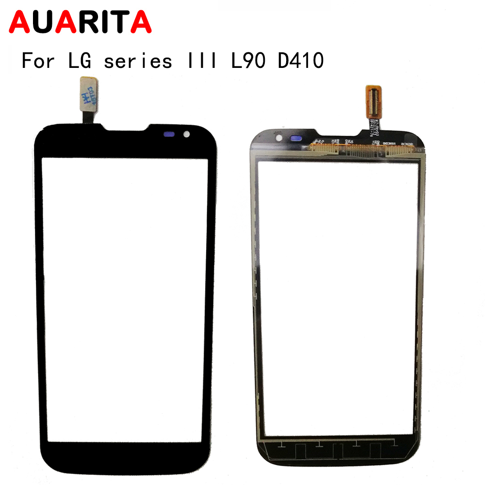 AAA quality 1pcs/lot touch panel Digitizer Touch Screen Glass For LG series III L90 L 90 D410 Digitizer Sensor Front Glass