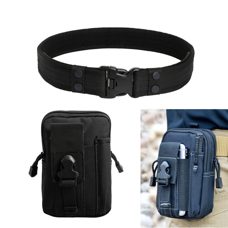 Combat 2 Inch Canvas Duty Tactical Sport Belt with Plastic Buckle Army Military Adjustable Outdoor Fan Hook & Loop Waistband belt