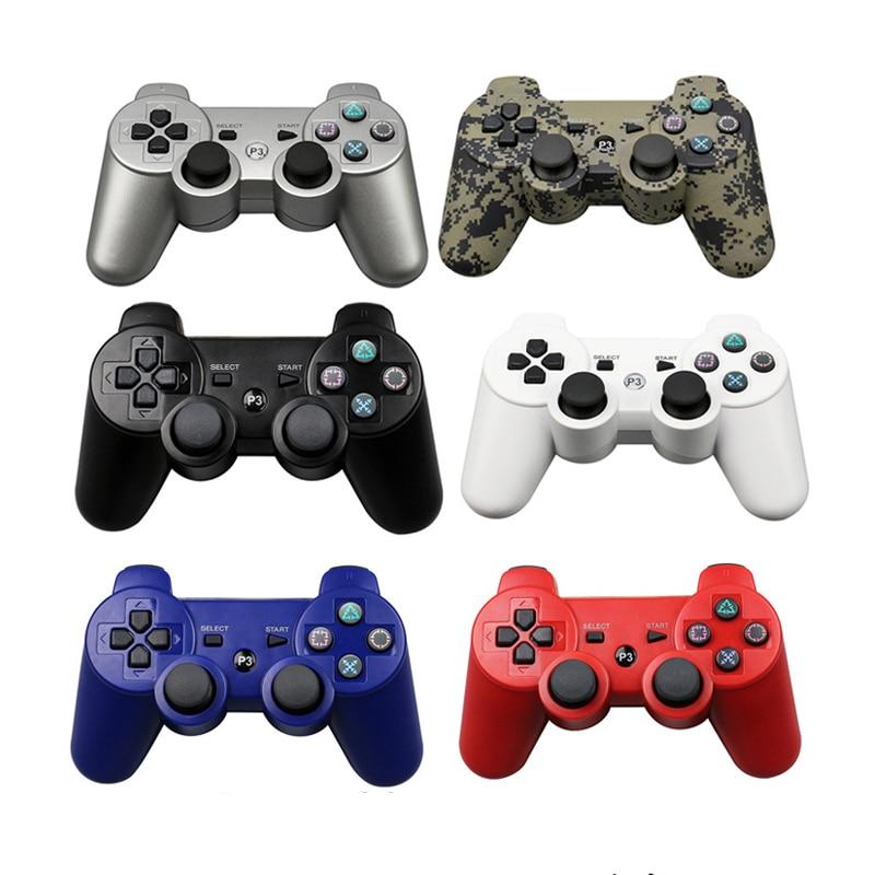 Yeni 2.4GHz 7 renk kablosuz Bluetooth oyun denetleyicisi için Sony PS3 ergonomi denetleyici Joystick Gamepad Playstation 3 için