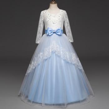 92d9ae97c Vestidos para niñas cumpleaños boda niña Floral princesa vestidos de fiesta  verano 3-10 AÑOS ...